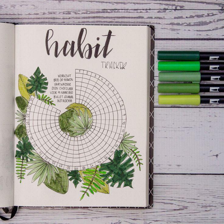 885 vind-ik-leuks, 16 reacties - Journal by Mir (@journalbymir) op Instagram: 'HABIT TRACKER    the same theme as my monthly spread. This habitwheel worked for me last month…'