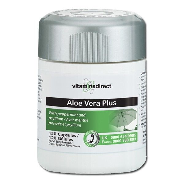 A synergistic blend of the traditional botanicals aloe vera, psyllium husk powder, and peppermint leaf powder; Aloe Vera Plus capsules from Vitamins Direct helps support healthy digestion.  Regularly consuming aloe vera supplements can improve bowel movements and increase protein absorption, and at the same time, reduce the occurrence of yeast and bacterial infections.  Aloe Vera Plus: 120 vegecaps £7.95