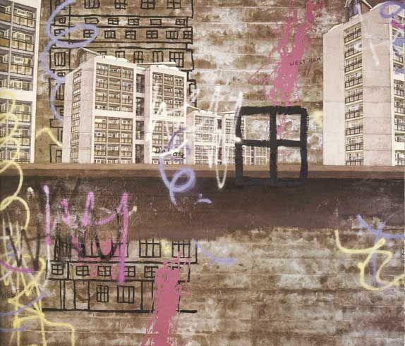 David Hepher - crumbling tower blocks