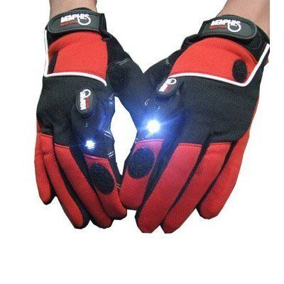 Multi-Purpose Mechanics Gloves with Built-in LED Lights