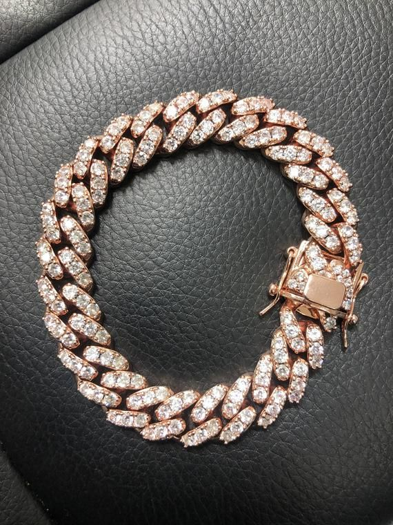 """Details about  /Rose Gold Plated 925 Sterling Silver and Rubber 36/"""" Link Necklace"""
