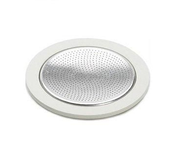 Bialetti Stainless Steel Model Replacement Seal and Filter Plate  We Recommend that you replace your Bialetti Seals every three months or once wear appears.