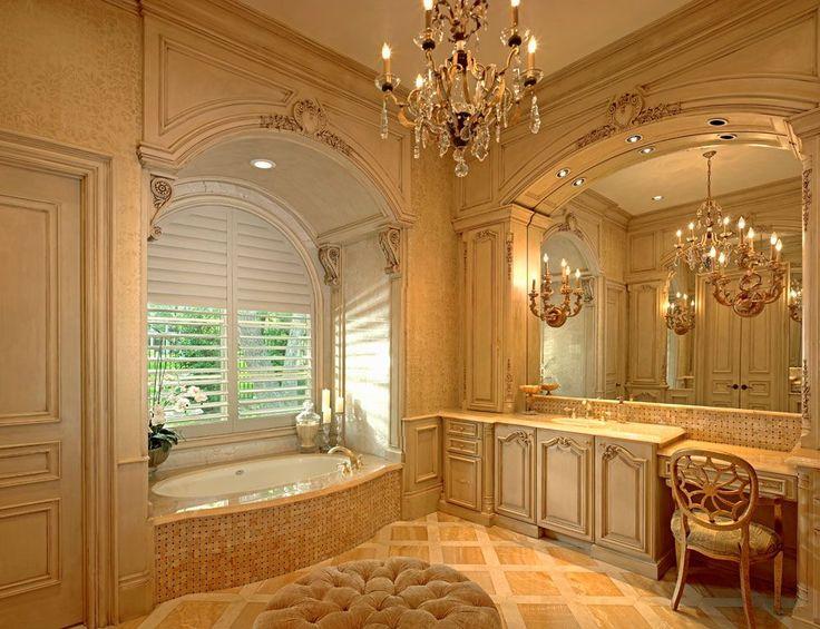 This Stunning Cream Master Bath Was Completed By Sharif Munir Custom Homes