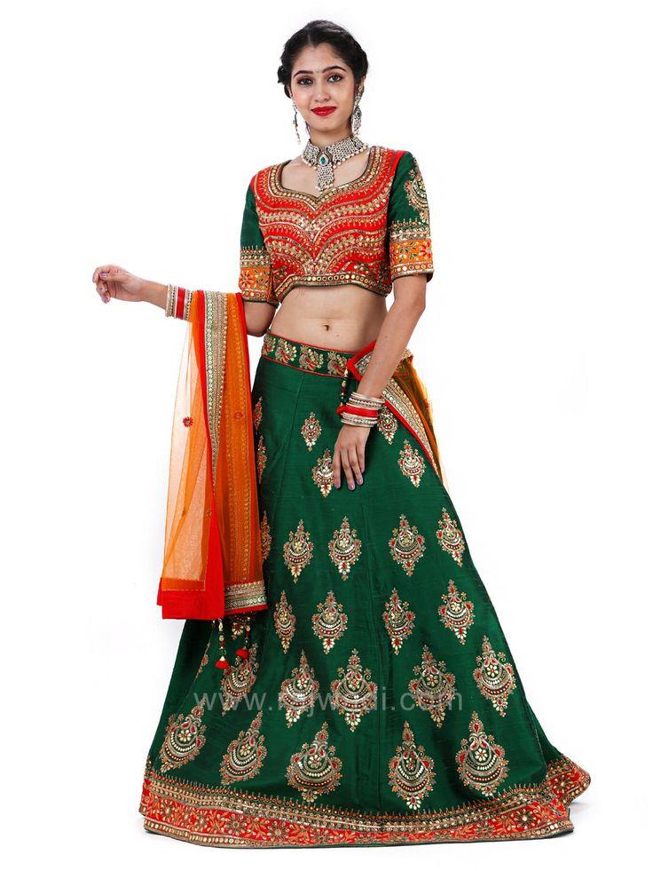 Bridal Raw Silk Embroidered Choli Suit #rajwadi #cholisuit #readycholi #lehengas #embroidered #FeelRoyal #bridal #colorful