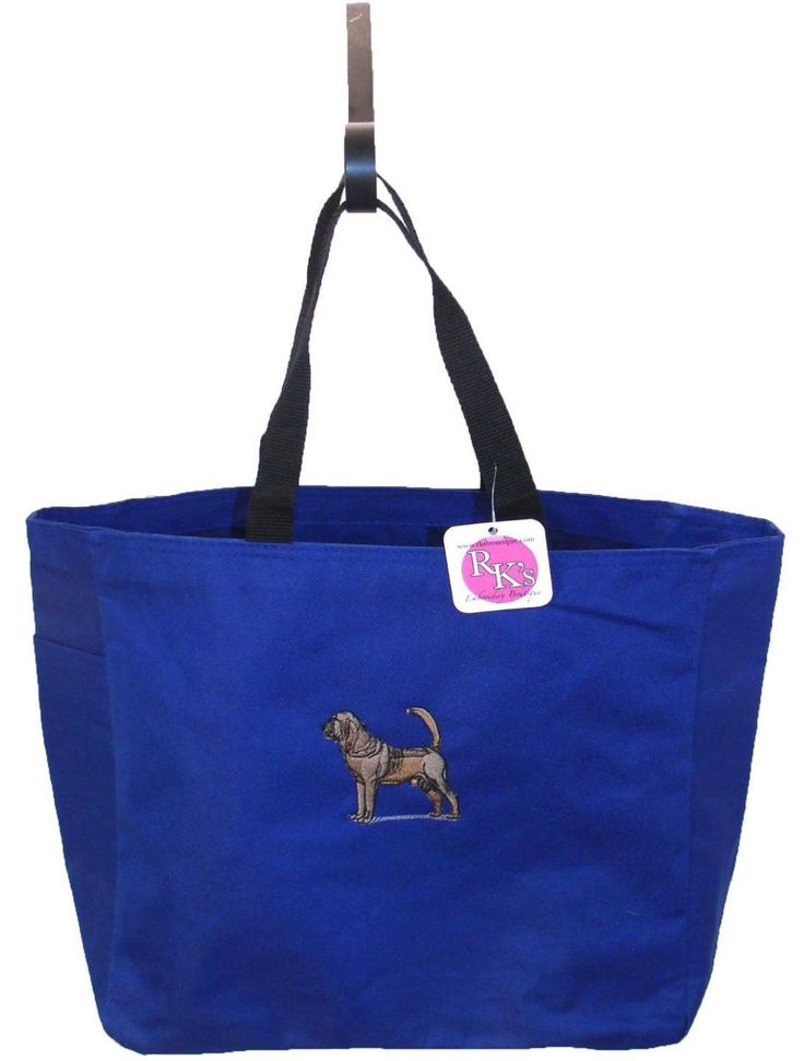 Bloodhound Essential Tote Bag Blood Hound Puppy Dog Hunting Show Breed Monogramm