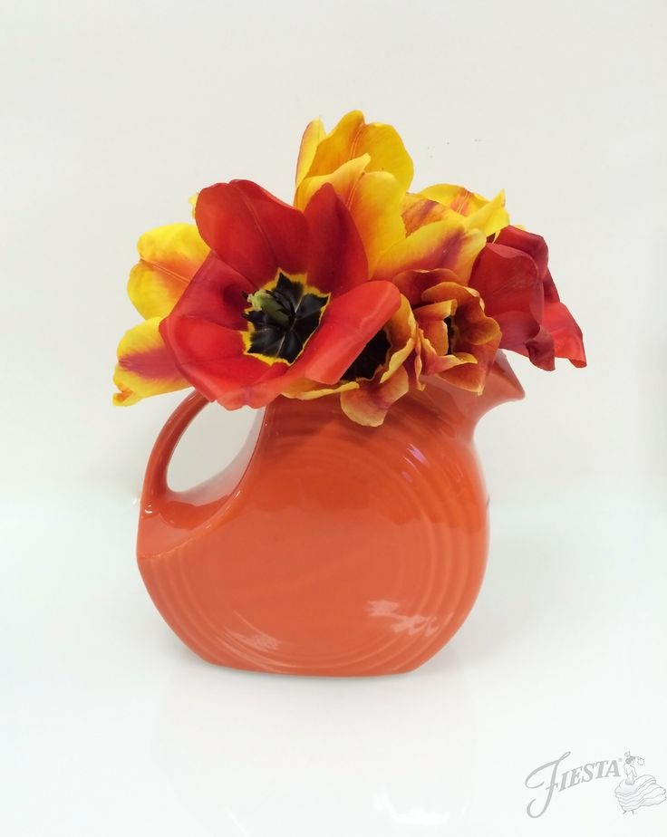 Fiesta Large Disc Pitcher - it makes a statement for any flower arrangement!