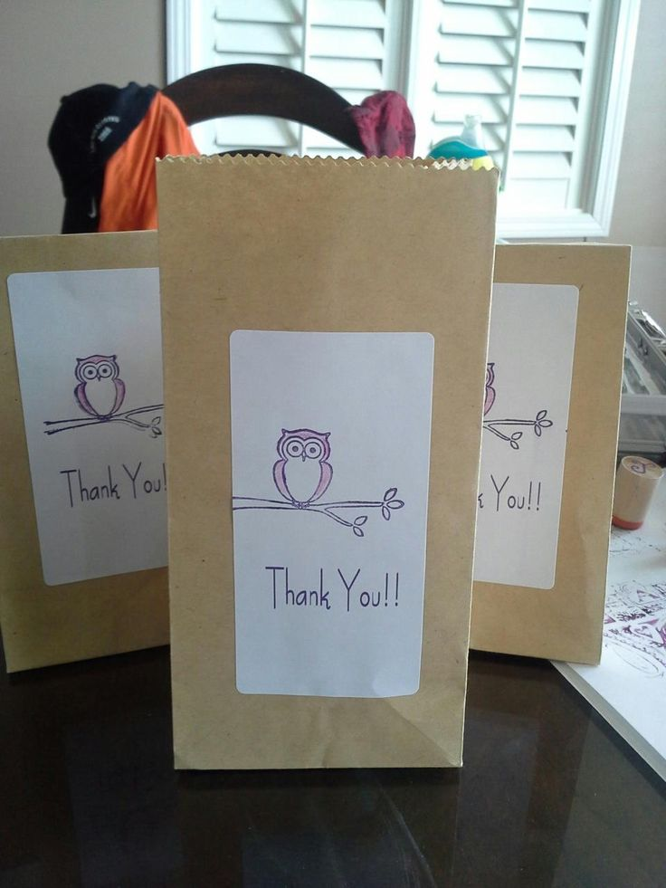 owls baby shower guest gift bags fall party ideas pinterest