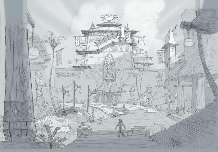 Environment:EverquestNext, jeff merghart on ArtStation at https://www.artstation.com/artwork/4y5g8