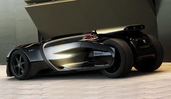 Para celebrar o seu 200º aniversário, a Peugeot criou um carro conceito chamado de EX1. Os grandes diferenciais do carro é seu design rebaixado e agressivo, os bancos foram incorporados na porta do carro deixando um estilo único de portas abertas e sua traseira inspirada no novo Batmóvel. Sensacional.via