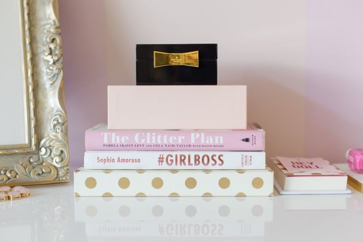 CHIC PINK and GOLD HOME OFFICE TOUR WITH CAROLINE BIRGMANN