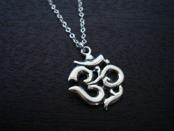 Sterling Silver Om Necklace