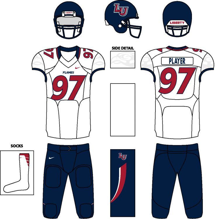 NCAA Division I FBS Concept Uniforms (Done in Paint