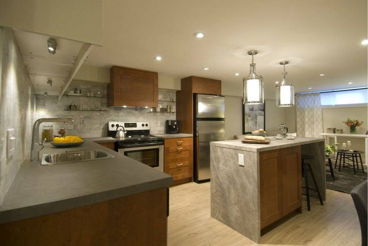 Planning and Constructing a Basement Kitchen Made Easier. & 23 best Basement Remodeling images on Pinterest | Basement ...