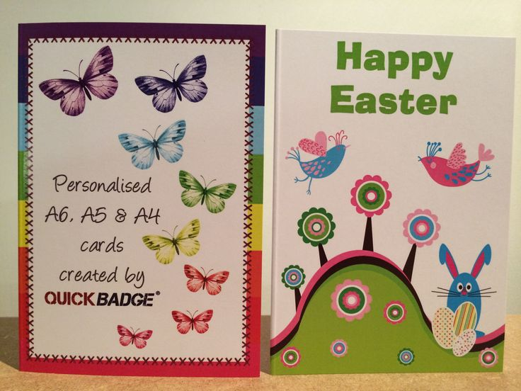 A6 custom design personalised greetings cards. For any occasion Easter, Christmas, Birthday.