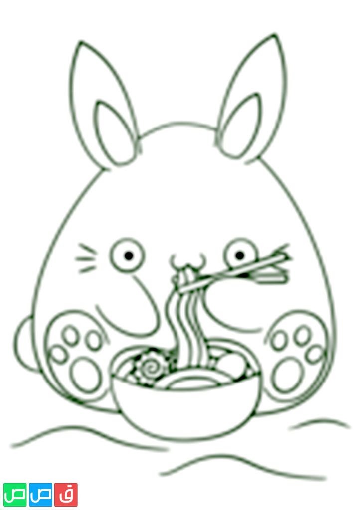 رسم ارنب للتلوين Hello Kitty Kitty Art