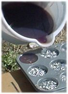 How to Make Orgonite - Pouring resin into muffin tins.