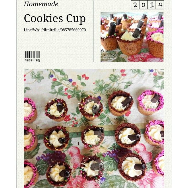 Cookies cup for dessert table
