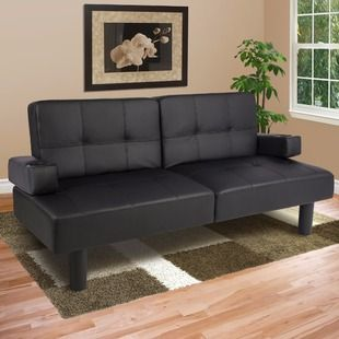 "Faux-Leather Futon @Best Choice Products has fold-down armrests with cup holders. It measures 71"" x 22"" x 29.5"" in the upright position, and it can support up to 550 lbs.was already on sale for $159.99, but you can get it for $149.99 when you apply our exclusive code BRADSBCP1816 during checkout at Best Choice Products. Shipping is free, and that's the best price we can find anywhere by about $10. The futon There's no sales tax (except CA and IN)."