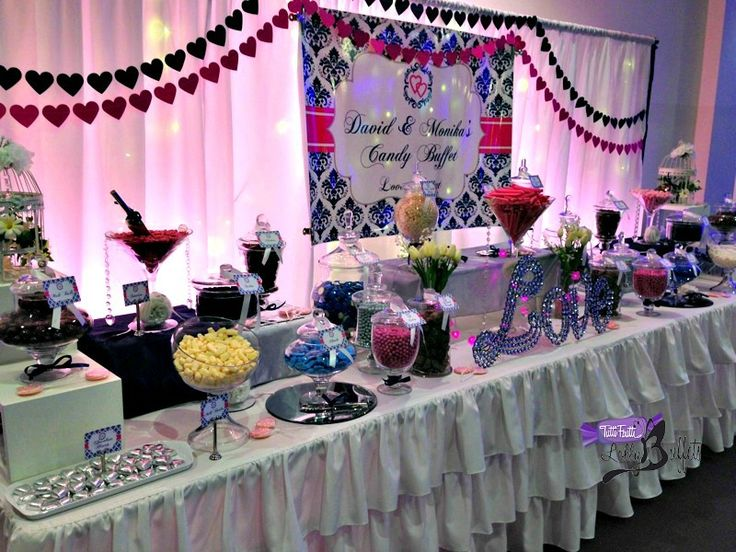 Wedding Buffet with Personalised Backdrop