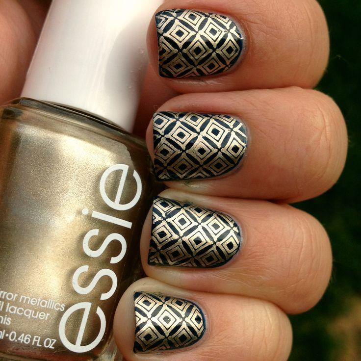 Royal Stamped Nails | Polish Me, Please! #nail #nails #nailart