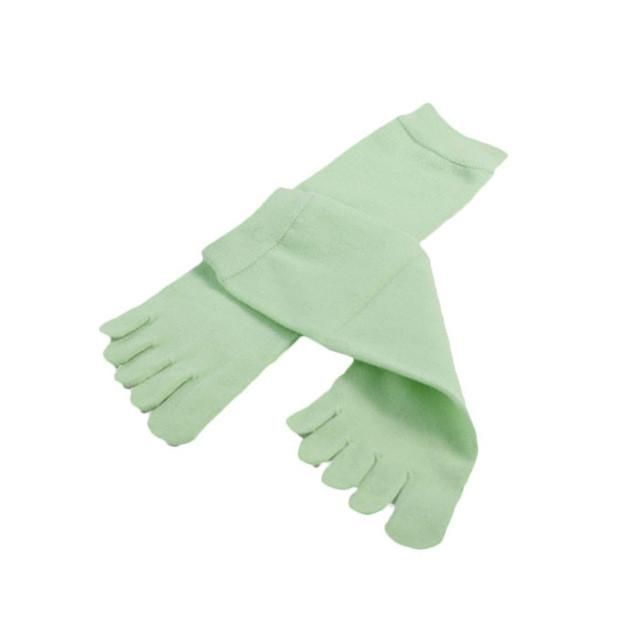 1 Pair Women Solid Colors Ventilation Socks Cotton Fiber Meias Sports Five Finger Socks Toe Socks#20