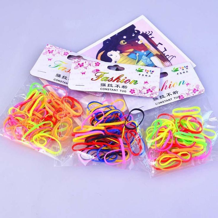 2Bags/Lot Styling Braid Rubber Hair Ring Ponytail Hair Braider Rope Hairdressing Tool Accessories RP1-5
