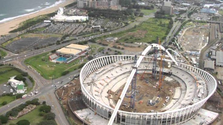 Dachtragwerk / roof structure Moses Mabhida Stadion, Durban, Südafrika /...