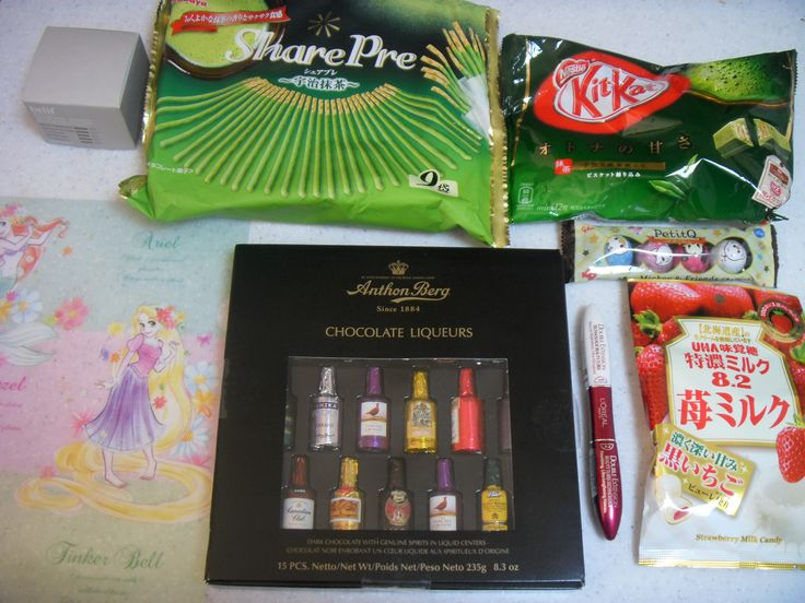 2016.2.7. Chocolate, desserts, and cosmetics from duty free shop and Japan for families. Susan's present.