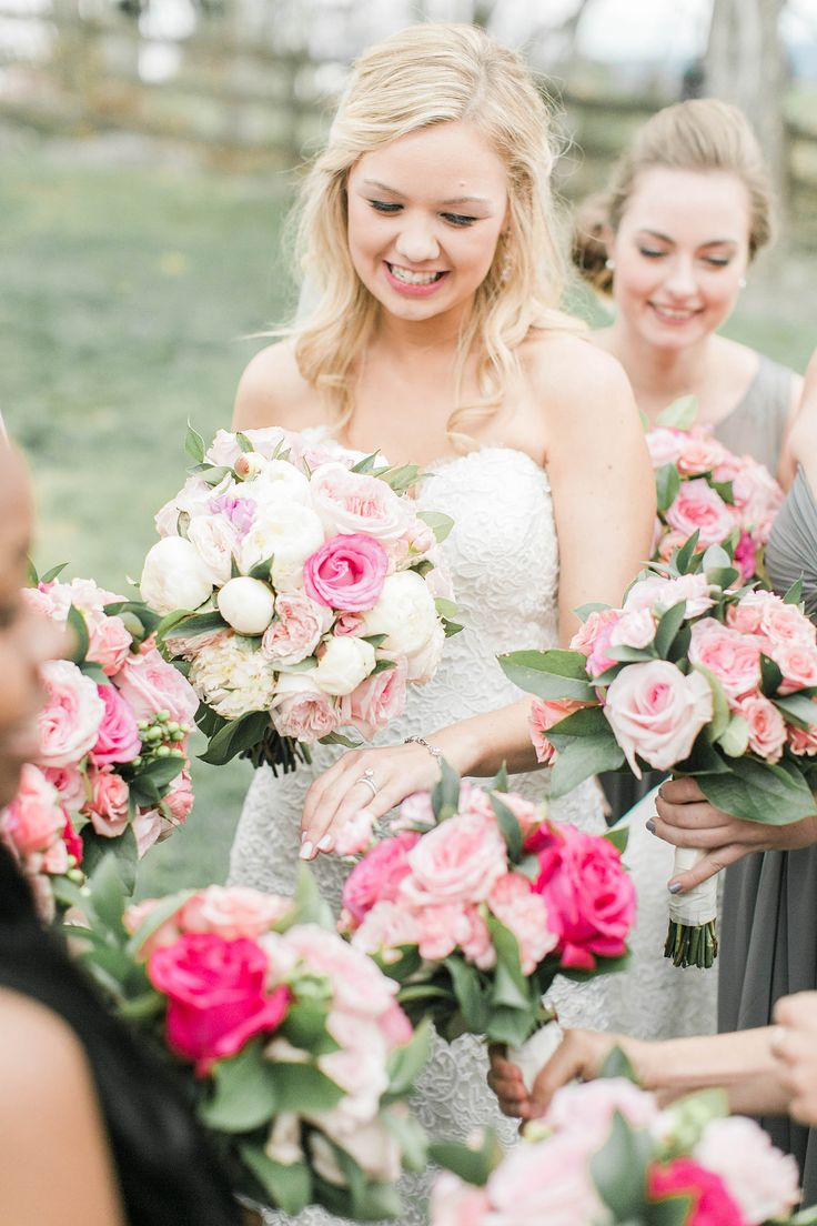 Spring Farm Wedding Flowers By Over The Top Flower