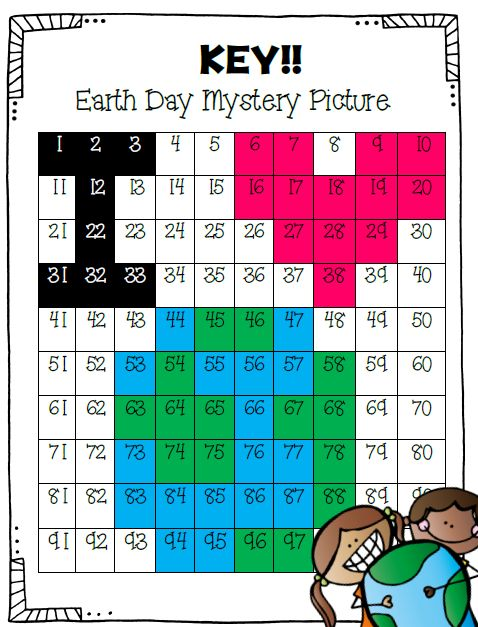 Looking for a fun way to celebrate Earth Day while measuring number recognition? Well, look no further! The 2 Teaching Divas have just the thing for you! Did we mention it was FREE??? In this activity students will follow directions by coloring the numbers the correct color. If all numbers are colored correctly, a hidden picture will be revealed! Would be a great center or fast finisher activity.