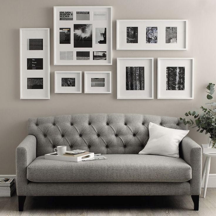 slim wooden photo frame 3 aperture 5x7 the white company
