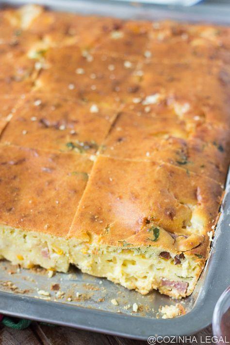 Cheia de sabor, essa receita de torta salgada é uma das minhas receitas favoritas. Fácil de fazer, ela conquista até quem não esta disposto a cozinhar.