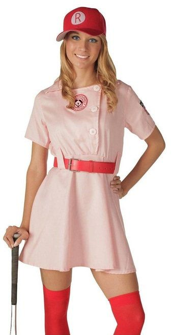 Rockford Peaches AAGPBL Baseball Costume Dress