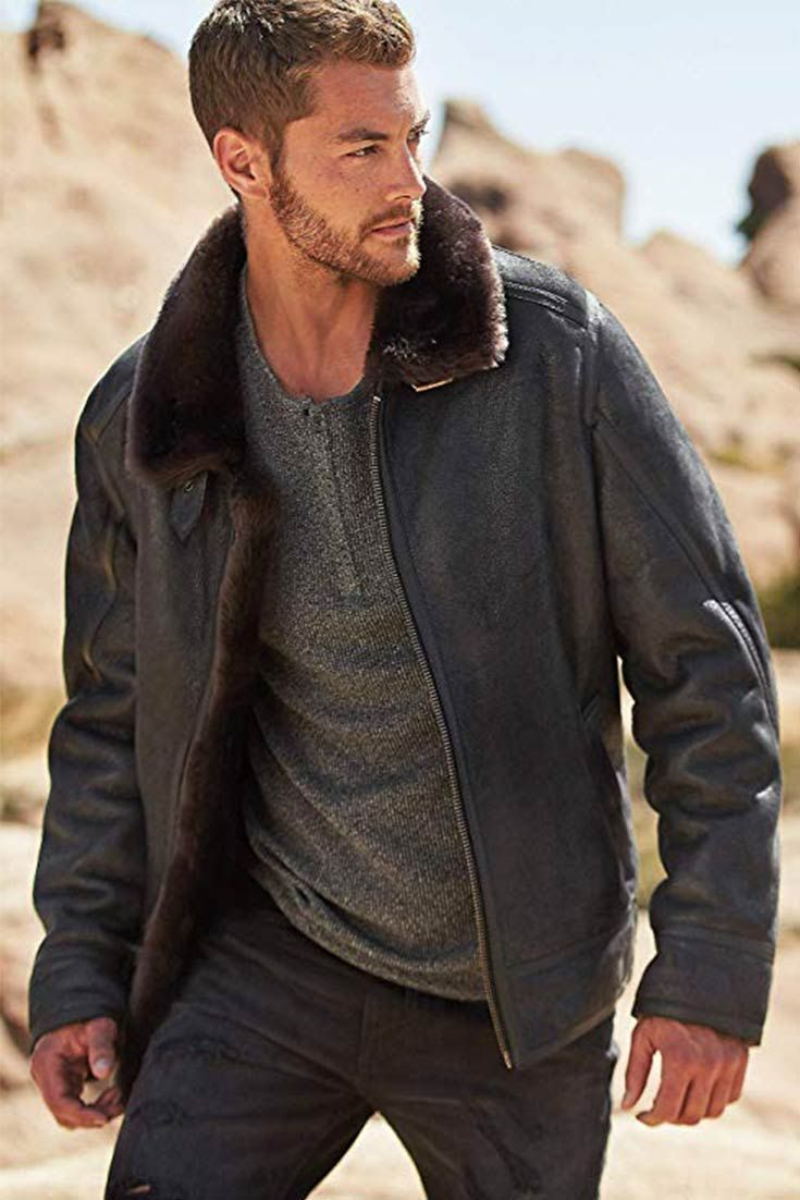6 Best Men S Shearling Jacket That S Stylish Cool And Worth Every Penny Mens Shearling Jacket Shearling Jacket Mens Fashion Casual [ 1102 x 735 Pixel ]