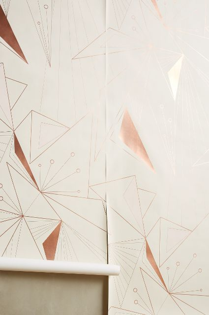 deco lines wall paper #anthroregistry