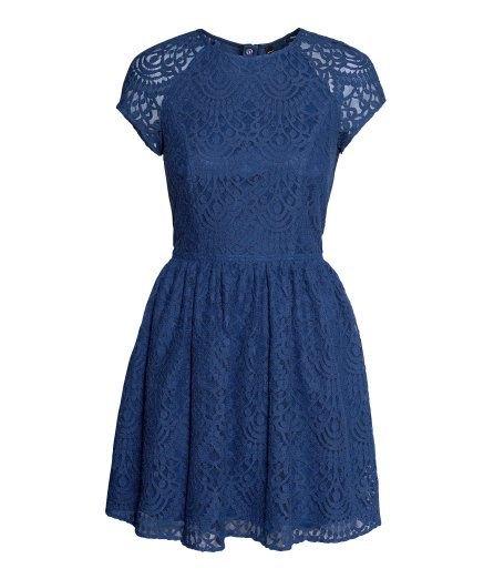 H&M blue lace dress