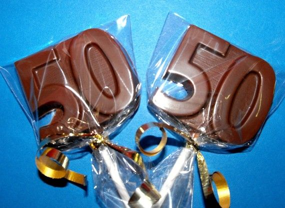 2  Dozen  50th Birthday Anniversary Chocolate by CANDYCRAFTS, $24.00
