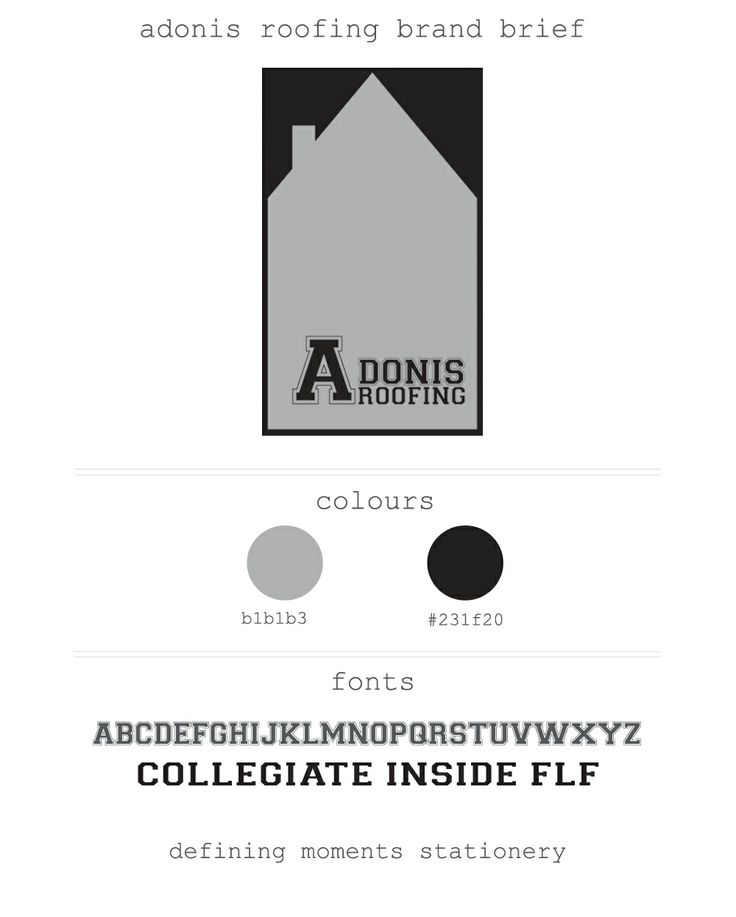 Corporate branding for Adonis Roofing :: Defining Moments :: Logo Design :: Niagara Designer :: Masculine Logo :: Grey and Black Logo :: Roofing Logo