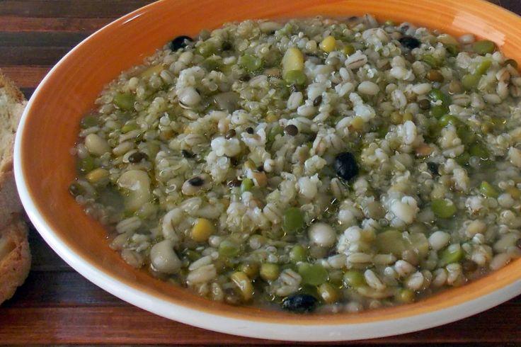 Zuppa Mista di Cereali e legumi con Quinoa