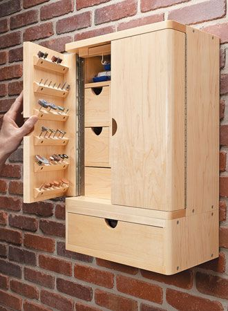 Rotary Tool Cabinet | Woodsmith Plans #woodworking