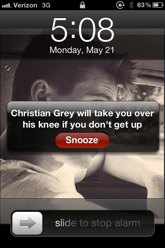 Lmao..to snooze or not? ;): Definitions Choo, Christian Grey, 50 Shades, Get Up, Fifty Shades, Stay In Beds, Wake Up, Funny, Hit Snooz