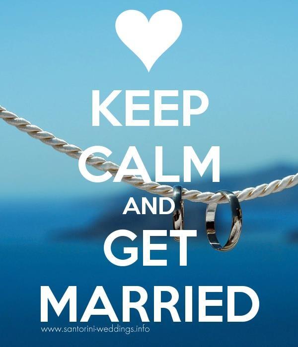 <3 Keep Calm and Get Married <3 #Santorini weddings