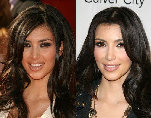 Kim Kardashian's Changing Face ...omg she looks more like Kourtney before!