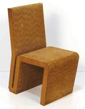 FRANK GEHRY EASY EDGES CORRUGATED CARDBOARD CHAIR