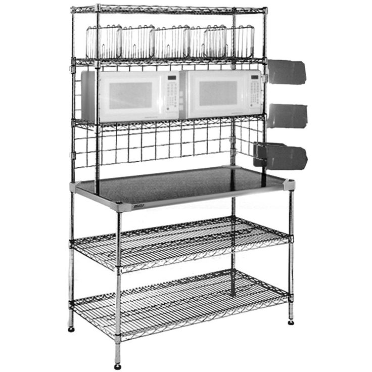 Inch Tall Stainless Steel Kitchen Prep Table Wire Undershelves