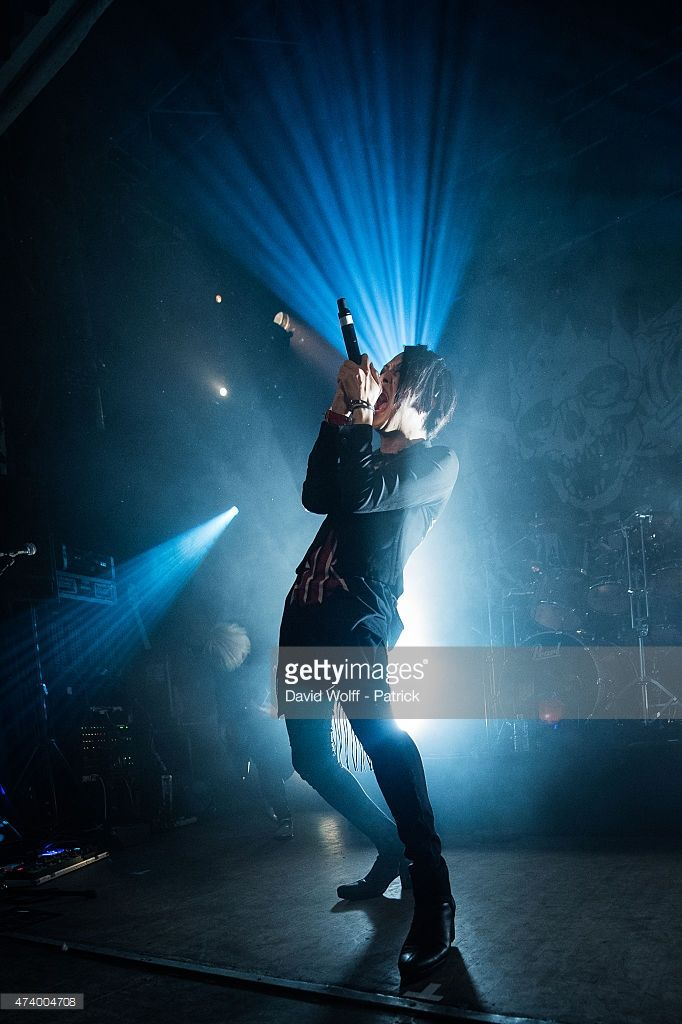 Tatsuro from Mucc performs at Divan du Monde on May 19, 2015 in Paris, France.