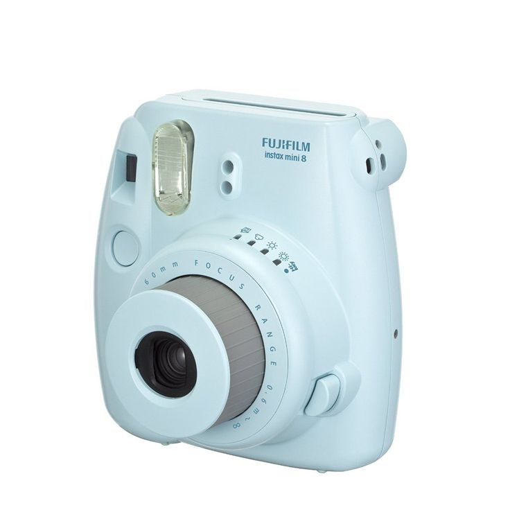 Cute and compact body design available in five different colors!  The Fuji Instax Mini 8 (+10 prints)
