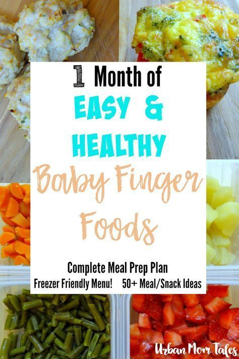1 Month Of Easy Healthy Baby Finger Food Recipes Meal Prep Plan