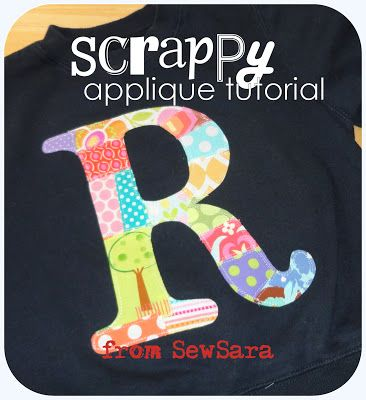 SewSara: Scrappy Applique    I've used this tutorial and it's perfect, simple, and adorable.