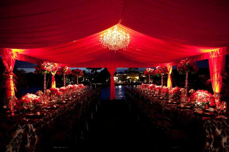 Amazing red tent. romantic feeling. waterfront event. It! Weddings & Events. baroque linen. Black and White. Event . sexy . birthday party ideas. sexy tent.
